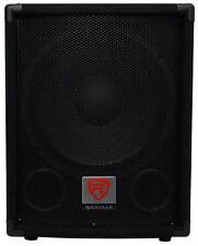 "Rockville SBG1124 12"" 600 Watt Passive 4-Ohm Pro DJ Subwoofer, MDF/Pole Mount"