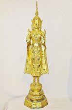 "Vintage ? Chinese Tibetan or Thai Gold Gilt Cast Metal Standing Buddha  (28.8"")"
