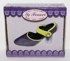 "My Treasure Classic Purple Yellow Resin Pump High Heel Shoe 4"" L Miniature"