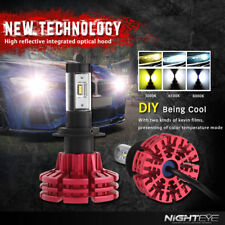 Nighteye H7 60W 10000LM 3000K/6500K/8000K LED Headlight Kit Bulbs Replacement