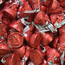 Hershey's Kisses Candy, Milk Chocolate with Almond, Red Foil, Valentine's Day