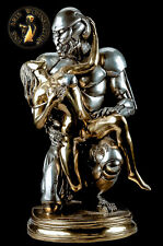 Bronze Sculpture Figure Robo Lover Erotic Sexual Statue Robot Handmade Art Deko