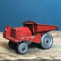 scarce 1:43 Scale Condon Diecast Vintage Muir Hill Dumper Truck, Red #2436
