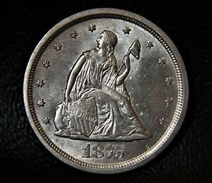 1875-S BU U.S. Silver Twenty Cent Coin