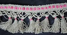 """Vintage Fringed Tassel Trim Passementerie Unused Upholstery Sewing Supply 355"""""""