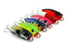 6PCS Mini Popper Fishing Lures Bass Crank Baits 10# Hooks Tackle 3.5cm/2.7g