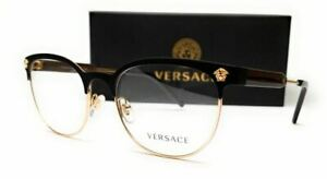 VERSACE VE1268 1261 Matte Black Oval Women's Eyeglasses 53 mm