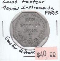 Laine Facteur - Musical Instruments Paris - Good for Lesson of 2 Francs