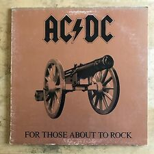 AC/DC For Those About To Rock 1981 Vinyl LP Gatefold Atlantic Records SD 11111