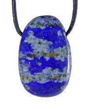 Lapislázuli Colgante con Pulsera de Cuero Lochstein Gotas Piedra en Tambor Gema