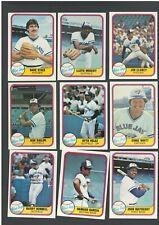 1981 FLEER TORONTO BLUE JAYS DANNY AINGE ROOKIE CARD + 22 SET NR-MINT/MINT