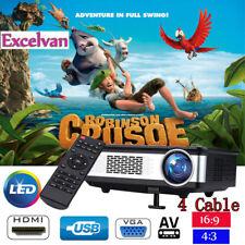 6000 Lumen HD 1080P LED Projektor Außen Heimkino Beamer HDMI USB AV SD VGA YPBP