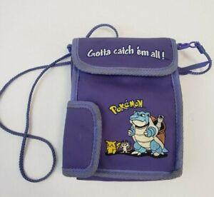 Vintage Pokemon Blastoise Nintendo Gameboy Purple Lavendar Carrying Case Bag