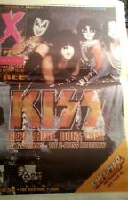 X PRESS MAGAZINE (NEWSPAPER FORM) KISS COVER 15/3/2001 RARE