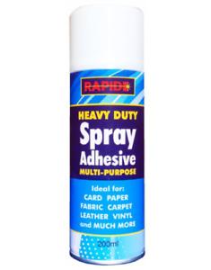 6 x Heavy Duty Glue Spray Adhesive Leather Carpet Card Paper Fabric Vinyl 200ML