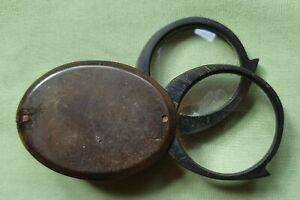 Georgian double lens eye Glass, Magnifying glass