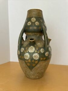 Antique Amphora Vase - Paul Dachsel Signed - Turn Teplitz - Art Nouveau Vase
