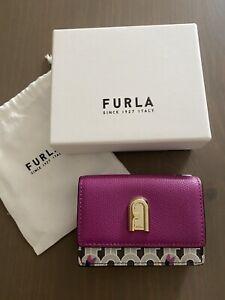***Wunderschönes original FURLA Mini-Portemonnaie, Kolibri Design, NEU***