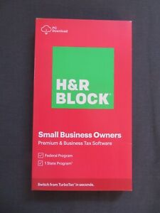 2020 H & R Block Small Business Owners State & Federal Windows DOWNLOAD Only