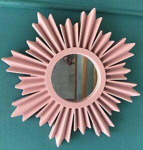 Vintage style Art Deco Sunburst Mirror in rose