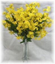 12 Baby's Breath Spray Yellow Gypsophila Silk Wedding Bouquet Flowers