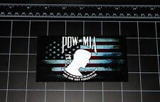 POW * MIA worn USA flag decal sticker USMC Marines Army Navy Air Force military
