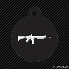 SIG 556 Keychain Round with Tab dog engraved many colors sig556