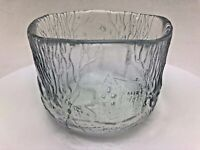 Vintage Glass Kosta Boda Sweden Bowl by Engman Schweden 'Horse' Mark
