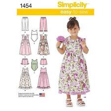 SIMPLICITY COUTURE MOTIF POUR ENFANT ROBE A ENFILER HAUT DE ROBE SHORTS 3-8 1454