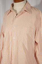 J.CREW Men's Size L Large 16-16.5 Striped 100% Cotton Dress Shirt w/Pocket