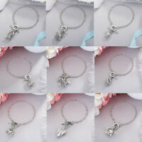 26 Styles Chic Oyster Pearl Locket Cage Pendant Bracelet Charm Silver Jewelry
