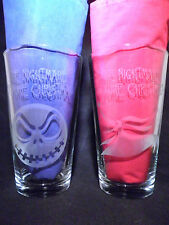 The Nightmare Before Christmas16oz Glasses -Jack Skellington and Zero-set of 2