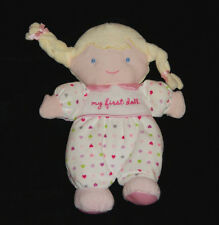 CARTERS Child of Mine MY FIRST DOLL Heart Pink blond hair Girls lovey baby plush