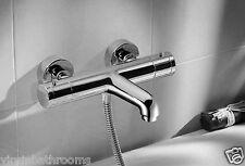 Termostática montaje en pared cromo baño ducha mezclador grifo - 10 Años De Garantía