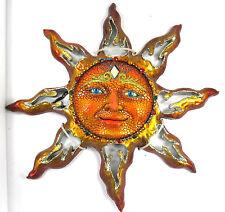 Orange Sun Jeweled Decorative Resin & Mirror Wall Art