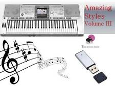 PSR 3000 USB-Stick+VOLUME 3 Song Styles NEW