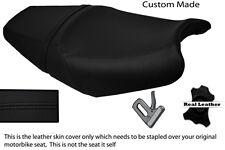 BLACK STITCH CUSTOM FITS KAWASAKI ZZR 1400 ZX14 06-11 DUAL LEATHER SEAT COVER