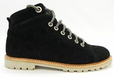 Coach Shoe A4191 Ester Lace Up Ankle Boot Bootie Embossed 12Cm Black Suede 7M