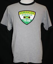 JAMAICAN BOBSLED TEAM T-Shirt Gray Large SEE PHOTOS!