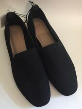 A New Day Black Slip On Loafers Mesh Shoes Women's 11 NWT!