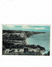 POST CARD A PHOTOBLUE OF SIDMOUTH FROM PEAK HILL
