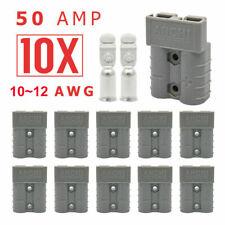 10pcs Câble d'alimentation Plug Connecteurs pour Batterie de Voiture 50A 600V