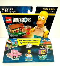 Lego Dimensions Homer Simpsons Figure Springfield Toy Action Simpson Game Set