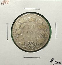 Canada 1888 Half Dollar Silver Fifty Cents 50 Cent