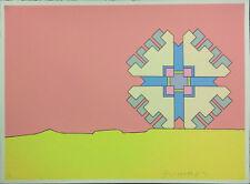 """PETER MAX """"HORIZON ENIGMA"""" 1971   SIGNED SCREENPRINT   POP ART   SEE LIVE*   COA"""
