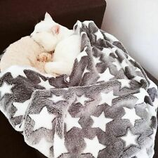 Blanket Soft Warm Cat Dog Bed Star Print Puppy Flannel Fleece Sleeping Bed Cover