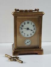 Pendule d'Officier ancienne à sonnerie -  pendulette de voyage -
