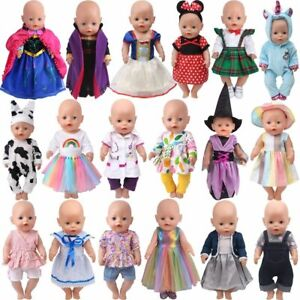 43 CM Doll Clothes Dress School Uniform Unicorn Queen Skirt Baby Toy Fit 18 Inch