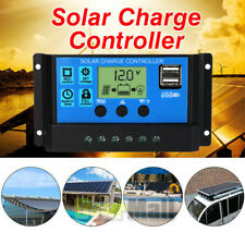 12V/24V MPPT Solar Panel Regulator Charge Controller Auto Focus Tracking USA
