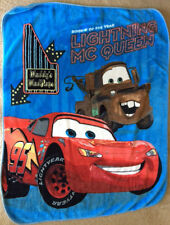 EUC Pre-owned Disney Cars ~ Lightning McQueen Plush Blanket, Throw ~ 50 x 60